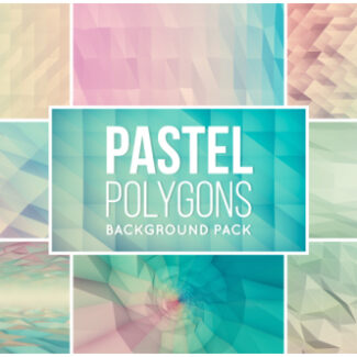 9 animated pastel polygons backgrounds