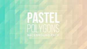 Animated pastel polygonal background 01