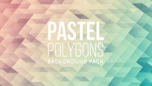 Animated pastel polygonal background 03