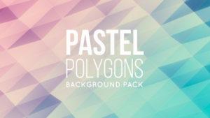 Animated pastel polygonal background 04
