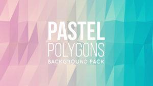 Animated pastel polygonal background 05