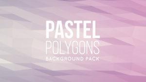 Animated pastel polygonal background 06