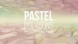 Animated pastel polygonal background 07