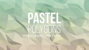 Animated pastel polygonal background 09