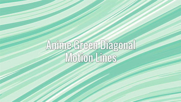 Fast-moving seamlessly looping diagonal green speed lines in Japanese animation style
