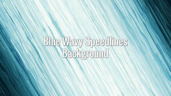 Diagonal Fast-moving blue Liquid Motion Lines in Japanese anime style
