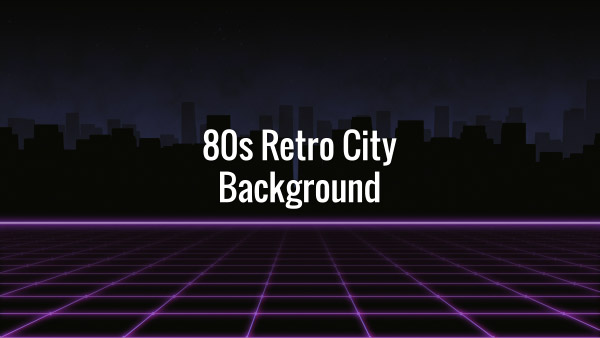 80s Retro City Background | ArtSqb Motion Graphics