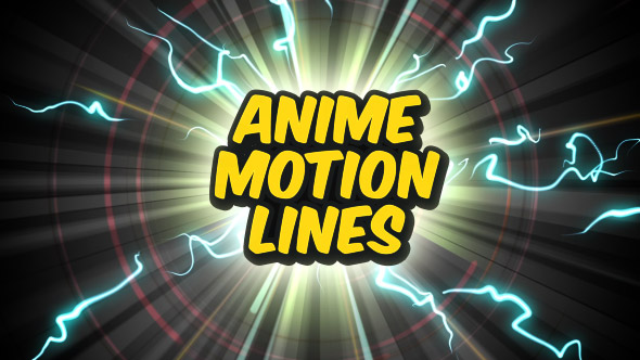 12 animated motion lines backgrounds and 12 transitions in anime style