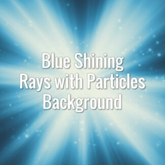 Blue seamlessly looping rays with blinking particles coming from center.