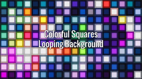 Flickering multicolor square palette.