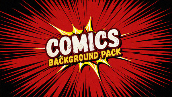 35 animated backgrounds in comics style