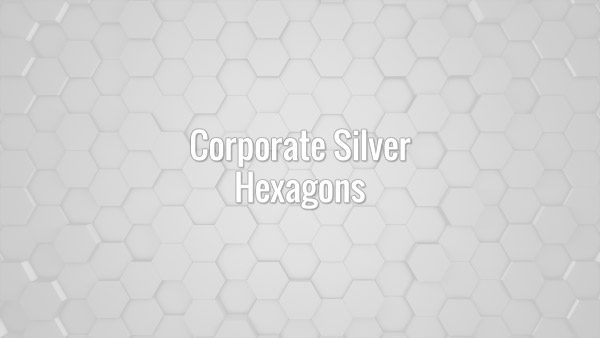 Seamlessly loopable subtle slow moving clean corporate gray hexagons