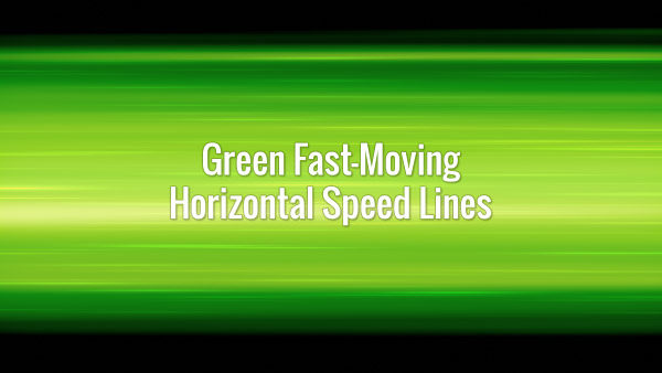 Fast-moving seamlessly looping horizontal speedlines in anime cartoon style