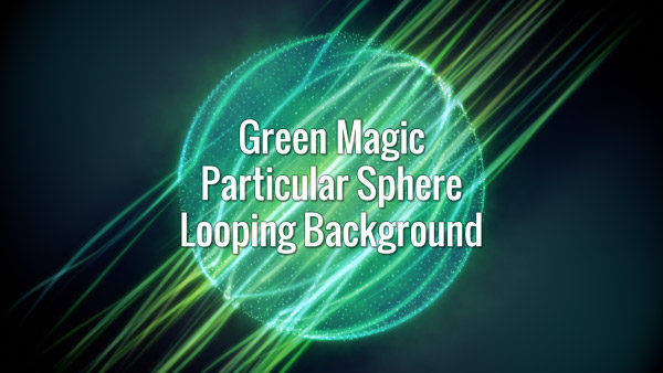 Green lines flying through the particular sphere