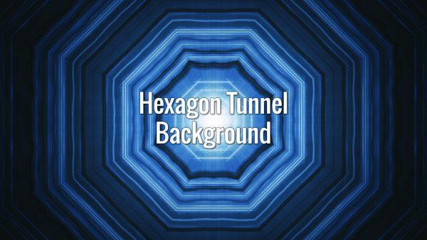 Blue seamlessly looping hexagon blinking tunnel.