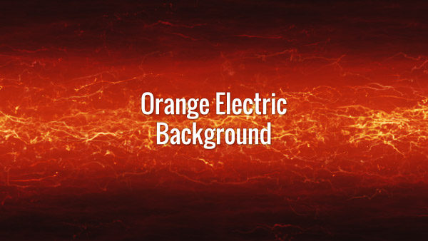 Orange seamlessly looping fast moving electricity on a red background.
