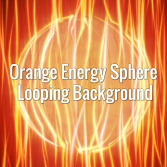 Electric orange lines coming through a sphere