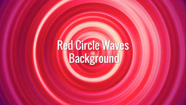 Bright red seamlessly looping spiral.