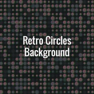 Horizontally sliding 80s vintage circles