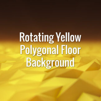 Abstract rotating yellow low poly floor