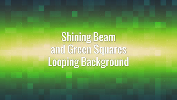 Particles flying in the center of green squared background