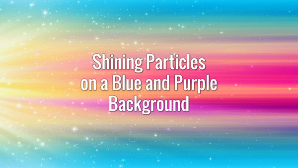 Fast moving particles moving in front of cyan and violet rays