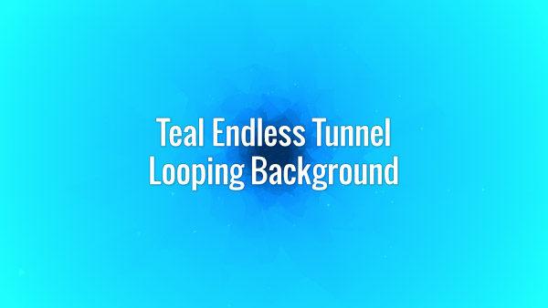 Cyan seamlessly looping deep tunnel