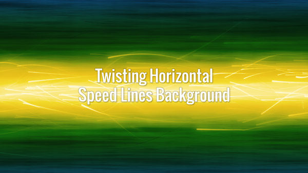 Twirling seamlessly looping bright motion lines on a green background.