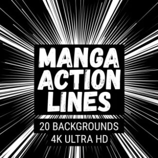 Manga Action Lines Background Pack