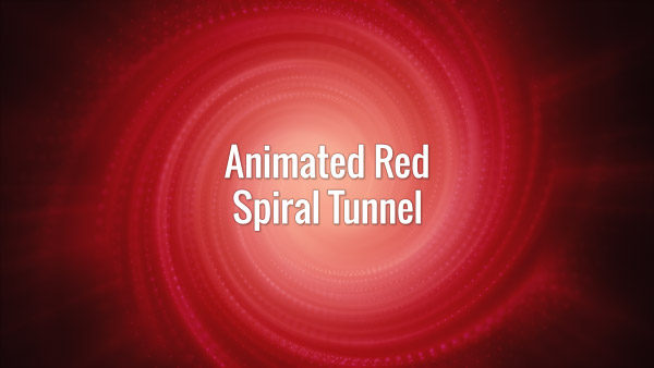 Seamlessly looping animated red tunnel with spirally moving particles.