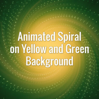 Seamlessly looping animated yellow and green magenta tunnel with spirally moving particles.
