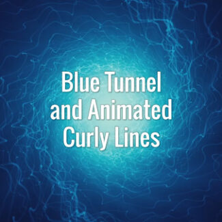Dark blue wavy electric lines going through the tunnel. Loopable animated video BG.