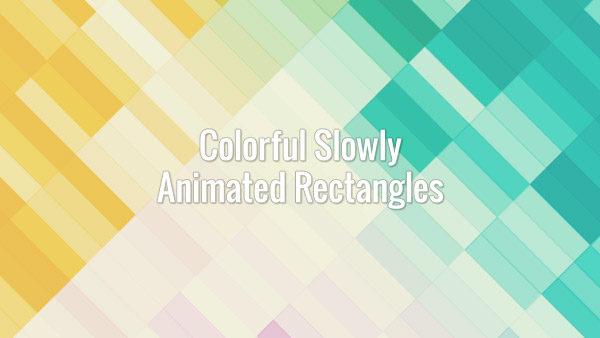 Diagonal colorful rectangles slowly changing colors. Loopable animated video background.