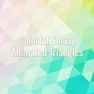 Colorful triangles slowly changing colors. Loopable animated video background.