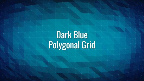 Seamlessly looping animated dark blue polygonal grid.