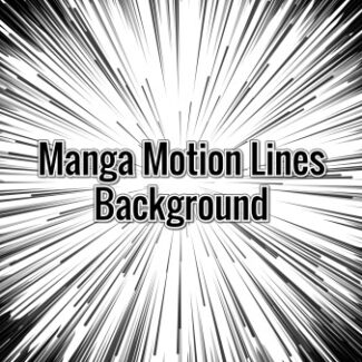 Manga Motion Lines Background