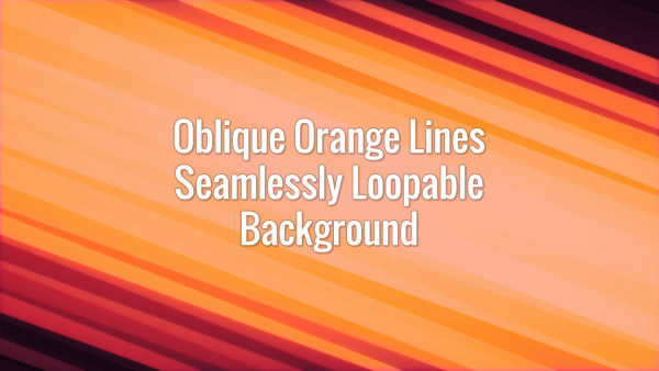 Seamlessly looping animated diagonal orange lines.