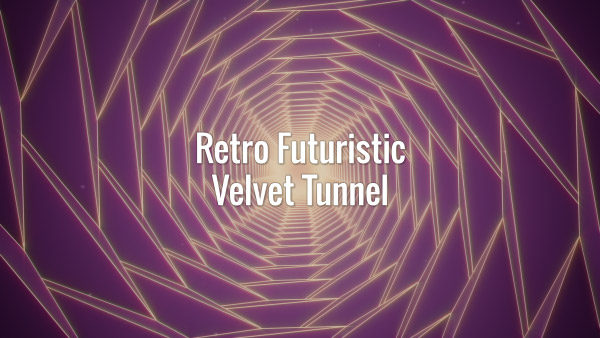 Seamlessly looping 80s retro futuristic velvet animated background.