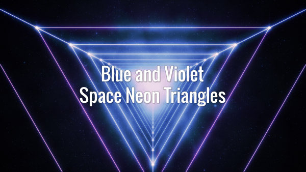 Seamlessly looping animated glowing space triangular tunnel.