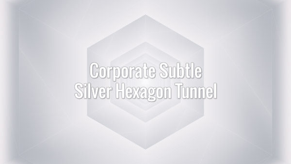 Seamlessly looping animated grey hexagons.