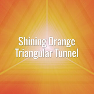 Seamlessly looping fast-moving orange triangles and subtle light rays.