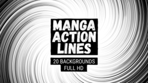 Animated Manga Action Lines Background 02