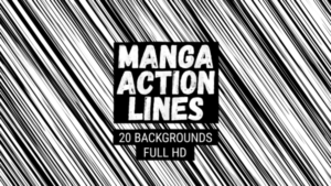 Animated Manga Action Lines Background 05