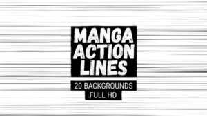 Animated Manga Action Lines Background 06