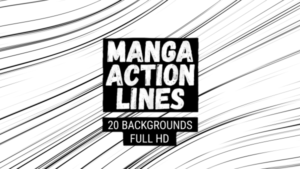 Animated Manga Action Lines Background 07