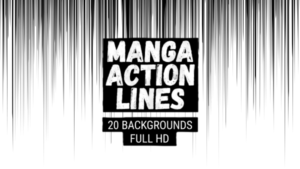 Animated Manga Action Lines Background 08