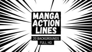 Animated Manga Action Lines Background 09