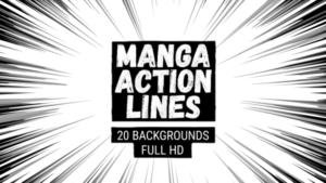 Animated Manga Action Lines Background 10