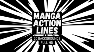 Animated Manga Action Lines Background 12