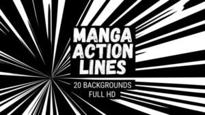 Animated Manga Action Lines Background 13